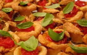 Image for 'Basil pesto tomato tarts'