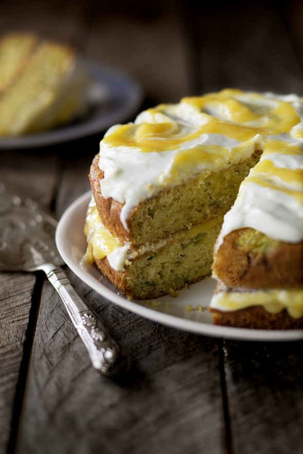 Image for 'Courgette and lemon curd cake'