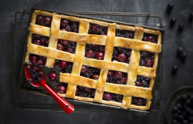 Image for 'Blueberry lattice tart'