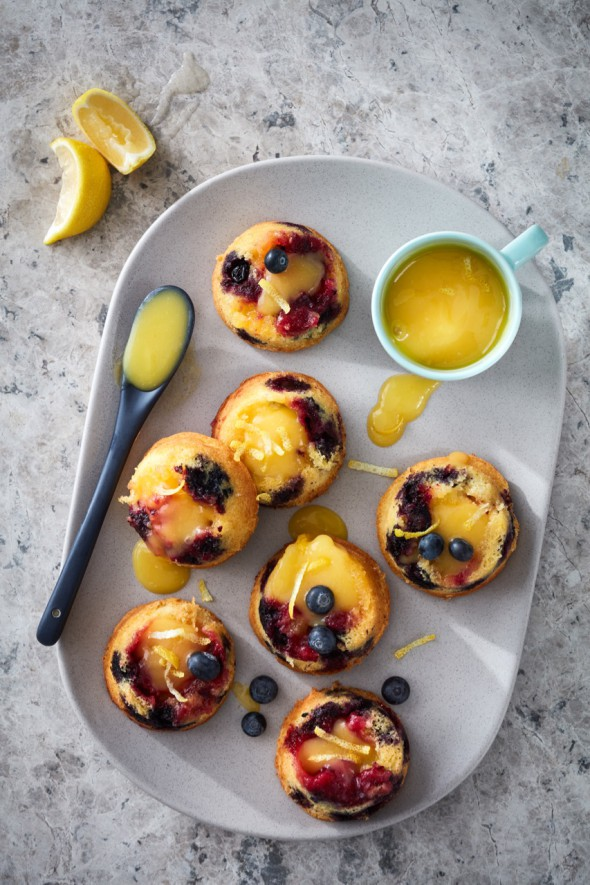 Image for 'Lemon curd & blueberry muffins'